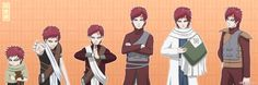 Gaara Evolution by vialesana.deviantart.com on @deviantART