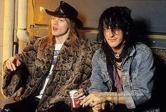 """248 Likes, 1 Comments - G N R (@izzy.popcorn) on Instagram: """"Axl and Izzy ❤ #axlrose #izzystradlin #gunsnroses #gnr #stevenadler #duff #slash #hardrock #rock…"""""""