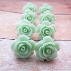 <3 <3 ADD diy www.customweddingprintables.com #customweddingprintables.com ... Mint Wedding Jewelry Bridesmaids Jewelry Earrings by CRystalCRush, $28.00