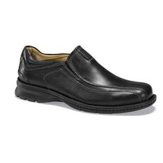 Dockers Agent Men's Leather Casual Slip-On Shoes, Size: 8 Wide, Black