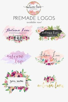 Autumn Lane Paperie provides business branding and website design for the creative professional and small business owner. Web Design, Website Design, Watercolor Flower, Watercolor Logo, Business Branding, Logo Branding, Brand Identity, Business Logo Design, Website Designs