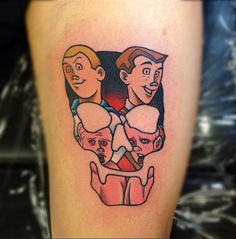 We bet that Venture Bros. co-creator Doc Hammer (check out our interview with him) would love this creative piece. Tattoo by Gooney Toons #InkedMagazine #tattoo #cartoon #Inked #VentureBros #tattoos #art