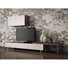 Meuble télé - A509 | Boutique Tendance Media Unit, Tv Unit, Ikea Hackers, Decoration, Projects To Try, Sweet Home, Foyer, Interior, Wall