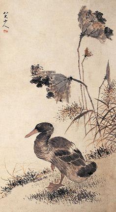 清-朱耷-鸭 by China Online Museum - Chinese Art Galleries, via Flickr