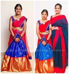 Blue Traditional Kanchi Pattu Half Saree