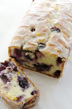 Easy Easter Brunch Dessert - Blueberry Lemon Yogurt Cake, cream cheese stuffed berries
