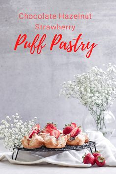 These delicate puff pastries are filled with chocolate-hazelnut spread and topped with fresh strawberries! Recipe by Nur Ashour of Catastrophic Cook.   #californiastrawberries #puffpastry #dessert #baking #bakingathome #strawberrydessert #chocolatehazelnut #chocolatepuffpastry #strawberriesandchocolate #simpledessert #entertaining Strawberry Puff Pastry, Strawberry Desserts, Chocolate Strawberries, Chocolate Spread, Chocolate Hazelnut, Puff Pastries, Hazelnut Spread, Vegetarian Chocolate, Easy Desserts