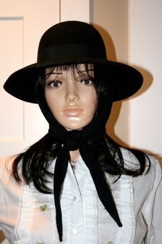 Betmar Ladies Black Hat With Attached by TresorsJeAmour on Etsy