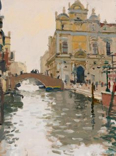 "Ken Howard, ""The Ospidale, S. Giovani & Paolo, Venice"""