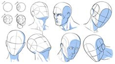 How to Draw Heads at Various Angles - Reference by robertmarzullo on @DeviantArt