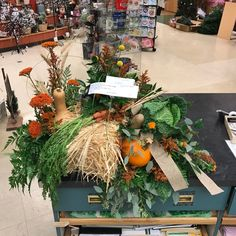 Our floral department created this casket spray for a farmer who did not want flowers. Casket Sprays, Farmer, Special Occasion, Birthdays, Valentines, Table Decorations, Create, Floral, Flowers