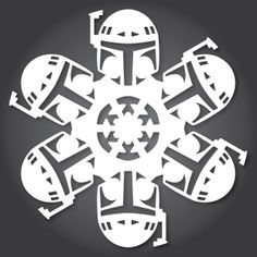 Shhh… is it too early to mention Christmas? Cool DIY paper snowflakes in the shape of Star Wars characters