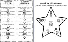 reading strategies. bookmark.  questions to ask while reading.