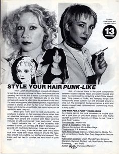 """Hair tips.  """"How to Look Punk"""" 1977"""