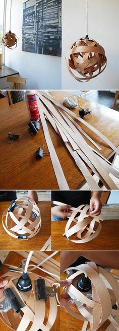abat-jour-diy-sculpture-de-bandes-de-papier-faire-des-lampes