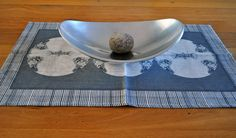 Metallic Medallion Natural Linen Tea Towel in Taupe | Deliciously Beautiful Things to Wear and Home Decor.