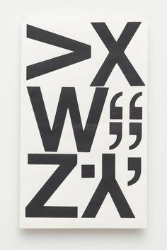 "SEBASTIAN BLACK, PAPERWORK (VXW""""Z.Y,), 2012 CHARTPAK VINYL STICKERS ON PAPER 10 X 6 INCH (25.4 X 15.24 CM)"