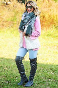 Warm & Fuzzy Vest: Ivory
