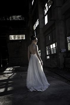 Wedding dress with open back