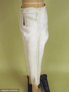 Augusta Auctions,Tasha Tudor Historic Costume Collection: Gents Leather Riding Breeches, Early 19th C