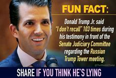 Don jr is a liar just like his father. Donald Trump Jr, Eric Trump, Trump Lies, Political Views, Way Of Life, Fun Facts, Sayings, Words, Quotes