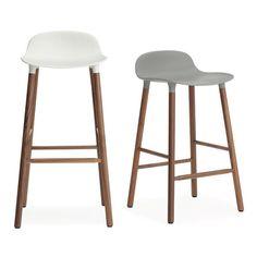 Form Barstool: Counter/Bar Walnut Legs - A+R Store