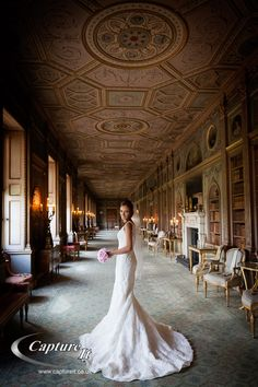 Bride in the Long Gallery at Syon Park.