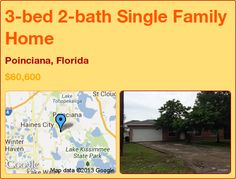 3-bed 2-bath Single Family Home in Poinciana, Florida ►$60,600 #PropertyForSale #RealEstate #Florida http://florida-magic.com/properties/12083-single-family-home-for-sale-in-poinciana-florida-with-3-bedroom-2-bathroom