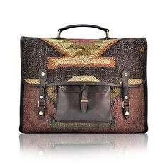 BUTCH - Satchel bag by TACHKENT - Made of jute and wool, by hand in limited edition.