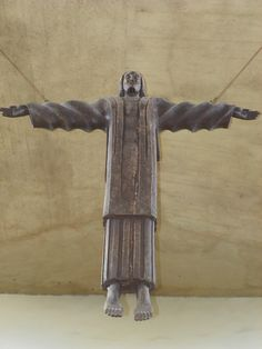 Iglesia Episcopal San Andres, Santo Domingo, Dominican Republic~ This sculpture of Jesus is carved from Dominican Mahogany. The precious wood has been harvested into virtual extinction. This sculpture is very large, probably 8-10 feet tall and 7 feet wide.