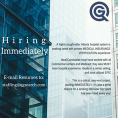 Have #medicalinsurance experience? We want to chat with you! #sandysprings #atlantajobs