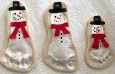 These salt-dough snowmen are the perfect keepsake to hold onto or give away as a gift.