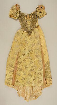 Evening dress Designer: Emile Pingat (French, active 1860–96) Date: 1891–93 Culture: French Medium: silk, metallic thread, glass