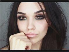 Eye Makeup Tips.Smokey Eye Makeup Tips - For a Catchy and Impressive Look Brown Smokey Eye Makeup, Dark Eye Makeup, Smokey Eye Makeup Tutorial, Simple Eye Makeup, Makeup For Brown Eyes, Natural Makeup, Grunge Eye Makeup, Grunge Makeup Tutorial, Golden Makeup