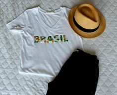 DIY - Camisa do Brasil personalizada