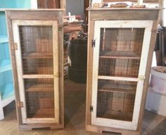 Rustic pallet cabinets