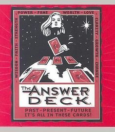 Mega Mini THE ANSWER DECK 73 Prophecy Cards That Can Change Your Life NEW BOXED
