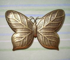 Large Butterfly Stamping Brass Stamping Top Drill by charmsgalore