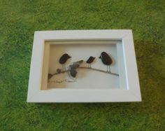 Pebble Art 'Welcome little one' by PebblePebbles on Etsy