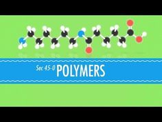 Crash Course Video.  Did you know that Polymers save the lives of Elephants? Well, now you do! The world of Polymers is so amazingly integrated into our daily lives that we sometimes forget how amazing they are. Here, Hank talks about how they were developed an the different types of Polymers that are common in the world today, including some that may surprise you.