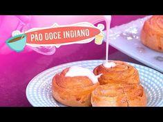 Sobremesa desta quarta-fera é um pão doce indiano bem caprichado. Chefs, Doughnut, Indiana, Muffin, Breakfast, Desserts, Youtube, Indian Sweets, Sweet Bread