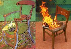 Vincent Van Gogh by Łukasz Kowalski #vincentvangogh #fire #painting