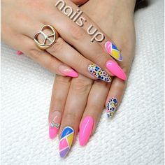 Instagram photo by  nailsup_ I like the  design, I would just do it on a square nail or rounded nail