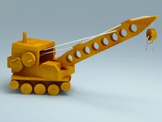 crane wood toy 3d model