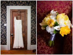 Simple one-shoulder wedding dress | Kristin & Tyler's Whitehall Manor Wedding in Leesburg, VA | Images: Kelly Ewell Photography