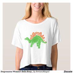 Sold! Thank you to the customer and enjoy! Stegosaurus Women's Bella Boxy Crop Top; ArtisanAbigail at Zazzle