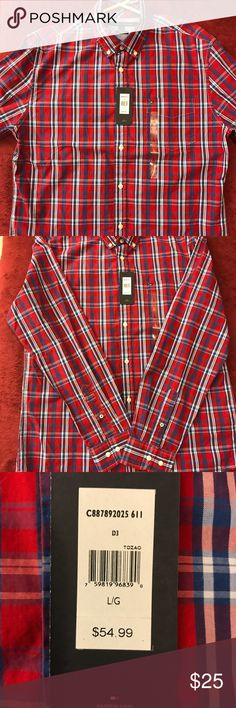 Tommy Hilfiger Long Sleeve Button Down Tommy Hilfiger Custom Fit Large NWT Tommy Hilfiger Shirts Casual Button Down Shirts