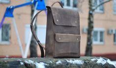 Mochila de cuero, mochila hecha a mano, mochila escolar, morral del ordenador portátil, morral para hombre, mochila marrón, bolso de cuero, marrón P002