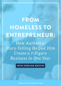 Episode How Authentic Story-Telling Helped Him Create a Business in One Year With Sterling Griffin - Melyssa Griffin Entrepreneur Stories, Entrepreneur Motivation, Business Entrepreneur, Entrepreneur Inspiration, Motivation Inspiration, Business Advice, Online Business, Business Coaching, Business Quotes