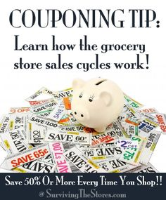 List of when products go on sale - know when the sales will be to use your coupons at the right time!  from www.survivingthestores.com